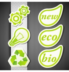 Set of eco labels green icons vector
