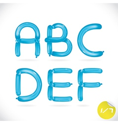 Unique glossy balloon alphabet vector
