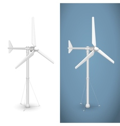 Eco wind turbine isolated vector