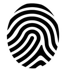 Drawing fingerprint symbol vector