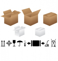 Packaging signs vector