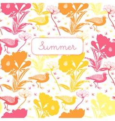 Vintage summer floral pattern vector