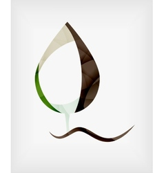 Flat design abstract leaf shape concept vector