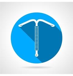 Iud round flat icon vector
