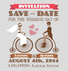 Vintage wedding invitation 2 vector