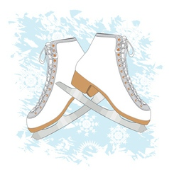 Ice skates background vector
