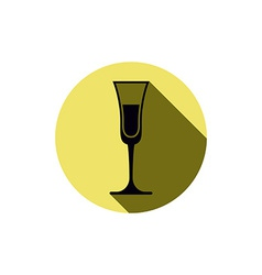 Alcohol theme icon champagne goblet placed in a vector