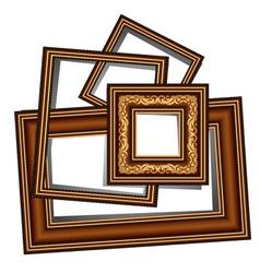 Vintage baguette frames vector