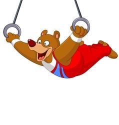 Gymnast bear vector
