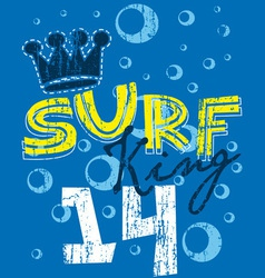 Surf king vector