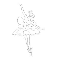 Dancing ballerina with wings vector
