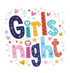 Girls night vector