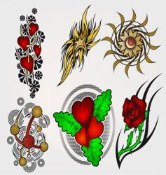 Set of tattoo vector