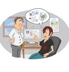 Social media concept vector