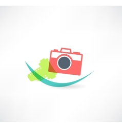 Photo icon camera with the film vector