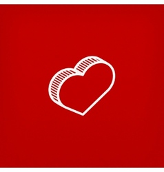 Isometric icon with heart sign vector