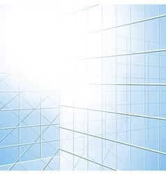Transparent windows - blue facade vector