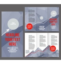 Tri fold brochure design vector