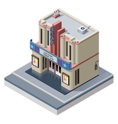 Isometric cinema building vector