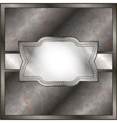 Rusty metal frame vector