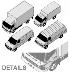 Delivery van set vector