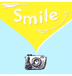 Smile photography vector