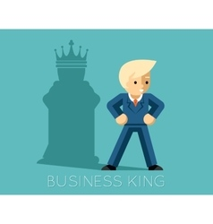Business king businessman with shadow as chess vector