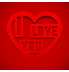 Abstract heart with text i love you vector