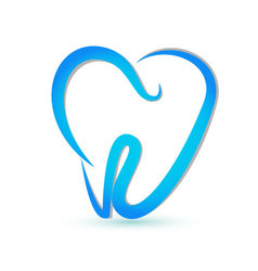 Stylized tooth logo vector