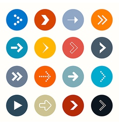 Circle arrows set on white background vector
