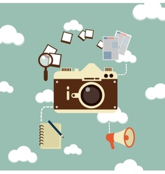 Journalist photographs vector