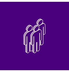Isometric icon of people group vector