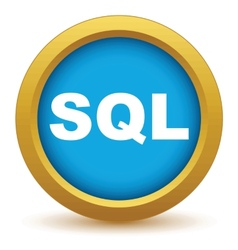 Gold sql icon vector