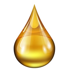 Drop of oil vector