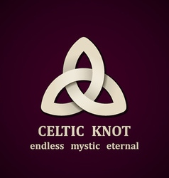 Paper celtic knot symbol design template vector