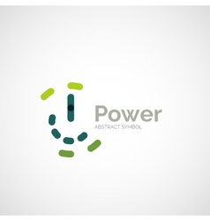 Power button logo design vector