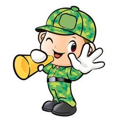 Loudspeakers to inform soldier vector