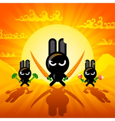 Ninja rabbits vector