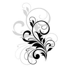 Scrolling foliate design element vector