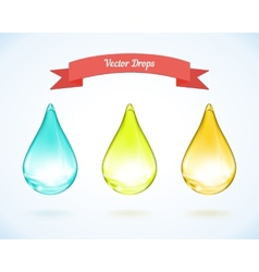 Water drop and drops of oil vector