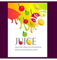 Juice fruit liquid drops splash colorful backgroun vector