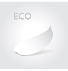 Eco origami leaf vector
