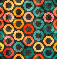 Abstract color rings seamless vector