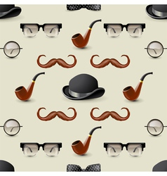 Retro seamless with mustaches2 vector