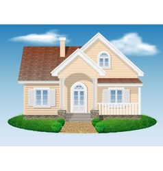 Beautiful small residential house vector