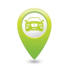 Car green map pointer vector