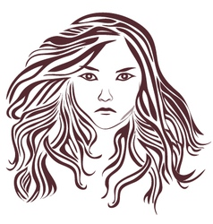 Female-with-very-long-hair vector