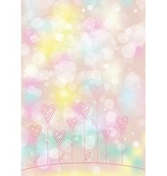 Valentines love flower background vector