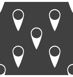 Map pointers web icon flat design seamless gray vector