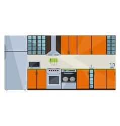 Orange kitchen vector